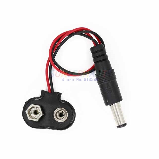 A6-- DC 9V Battery Button Power Cable Battery Buckle Snaps Power Cable Connector DC For Arduino