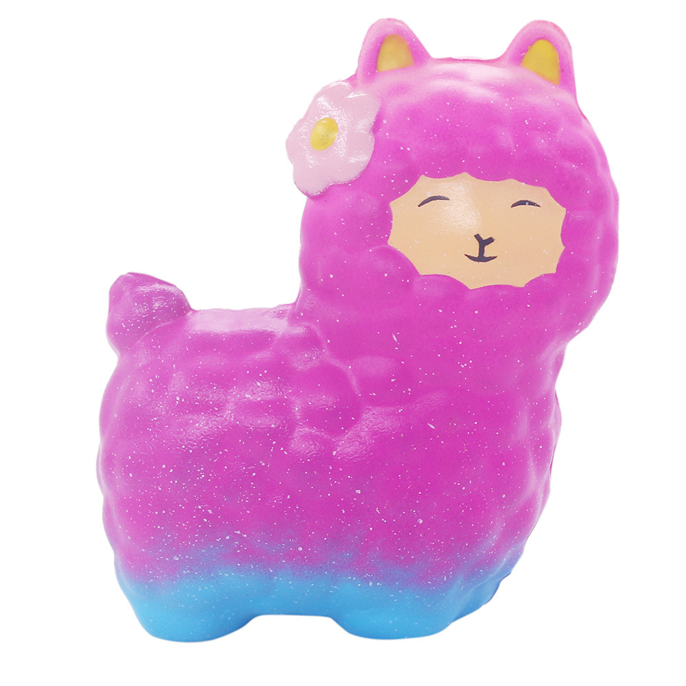 New Squishy Decoration Simulation Smiling Sheep Large Slow Rising Cute Alpaca Super Slow Rising Scented Fun Animal Toys L108
