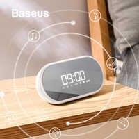 Baseus luce di Notte Speaker Bluetooth Con Funzione di Sveglia, Portatile Altoparlante Senza Fili Sistema Audio Per Comodino e Ufficio
