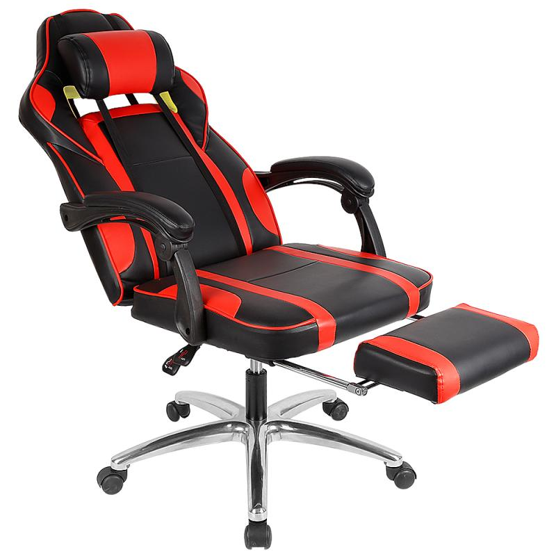 PU Leather Computer Chair LOL Internet Cafes Sports Racing Chair WCG Play Gaming Chair Office Chair 360 ° Swivel Chair HWC