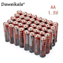 60 шт батарейки типа АА 1,5 V LR6 AM3 E91 MN1500 сухие щелочные батарейки 3 заказов