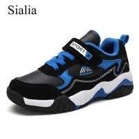 Sialia automne enfants baskets pour enfants chaussures garçons baskets filles chaussures décontractées course Sport en cuir extérieur chaussure enfant