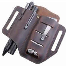 Multitool Leather Sheath Multi-function Drill Holster Waist Belt Tool Pouch Bag Waterproof Knife Holder Multi Outdoor Belt Set