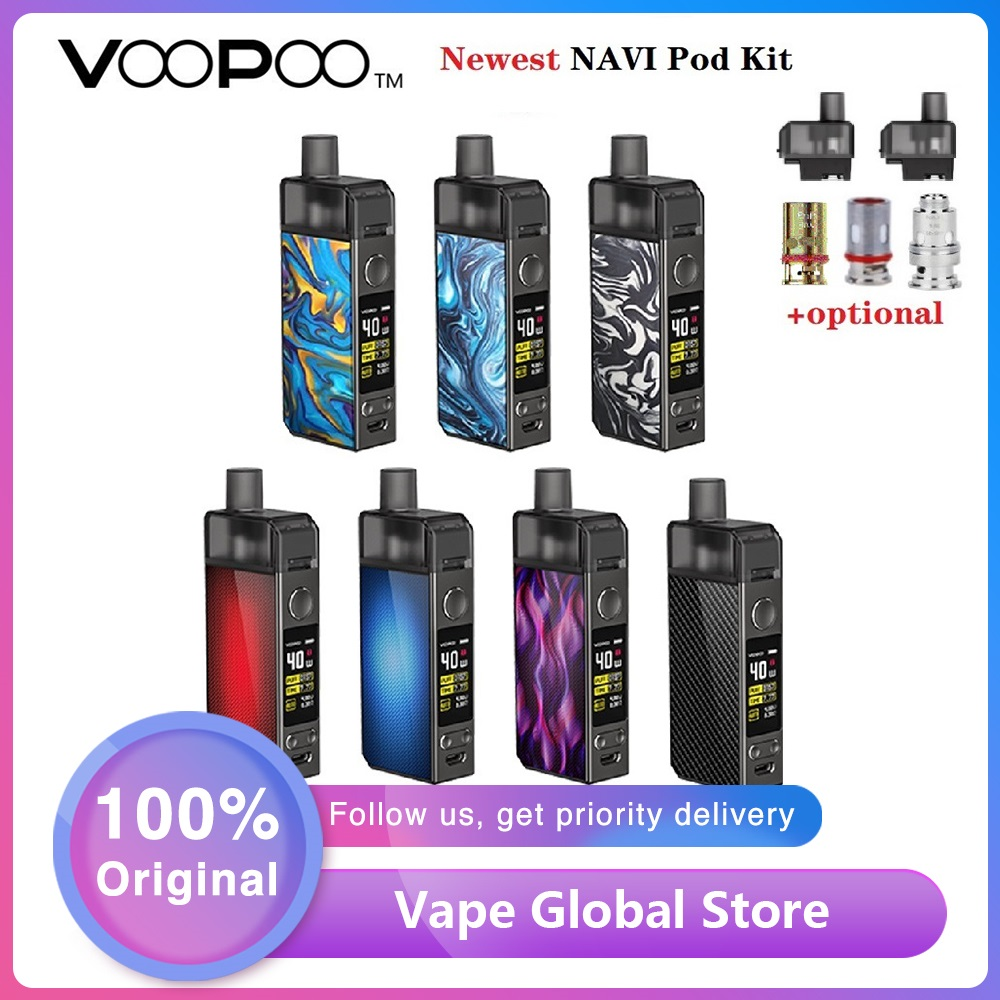 Original VOOPOO NAVI Pod Kit 1500mah Built In Battery & 3.8ml Pod GENE.AI Chip & Ecig Vape Pod Kit VS Vinci /Vinci X /Pasito Kit