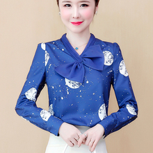 Korean Chiffon Women Blouses Woman Satin Blouse Sh