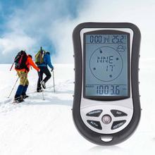 8 ב 1 כף יד GPS נייד משולב ניווט מקלט דיגיטלי מד גובה ברומטר מצפן לקמפינג טיולים חיצוני