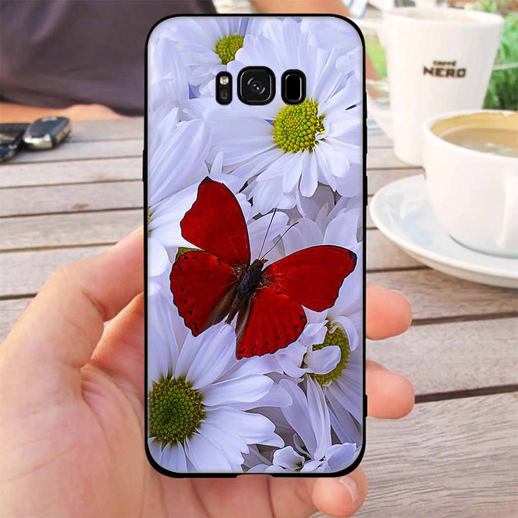 beautiful flower ro<strong>s</strong>e soft silicone case for samsung galaxy s20