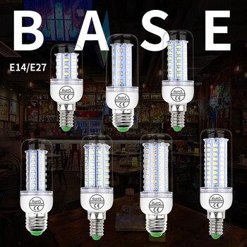 LED E27 Corn Light Bulbs SMD 2835 E14 LED Lamp AC 220V Warm White Home Lamps Energy Saving Ampoule Chandelier Lighting 240V e27 3w 6500k 210 220lm 10 x smd 2538 led white light energy saving lamp bulb white ac 220v