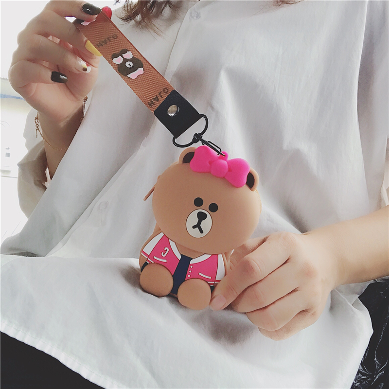 Hot Sale Women Wallet Cute Coin Purse Choco Cartoon Princess Girl Key Case Wallet Children Headset Box Clear Purse Kids Carteira