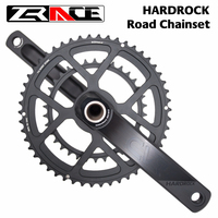 ZRACE HARDROCK 2 x 10 / 11 Speed Road Chainset Chain Wheel crank protector, 50/34T, 170mm / 172.5mm / 175mm, Weight:710g