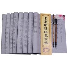 Pincel copybook magia reutilizável água escrita pano caligrafia conjunto de escova para iniciante chinês caligrafia água escrita pano