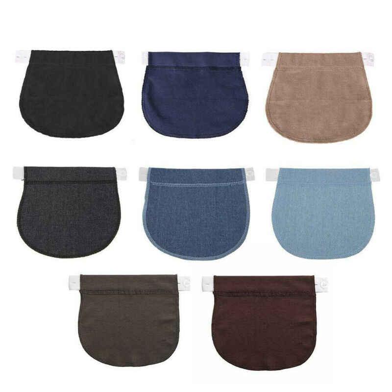 1 Pcs Wanita Kehamilan Tombol Belt Celana Ekstensi Gesper Hamil DIY Pakaian Perlengkapan Jahit
