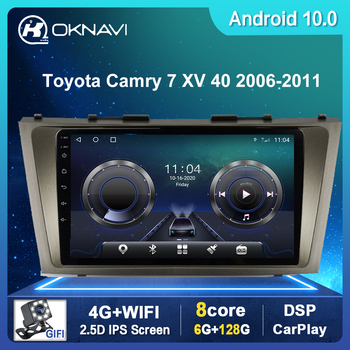 Android 10 Car Multimedia Player For Toyota Camry 6 XV 40 50 2006-2011 GPS Navigation DSP Carplay Camera Radio No CD DVD Player image