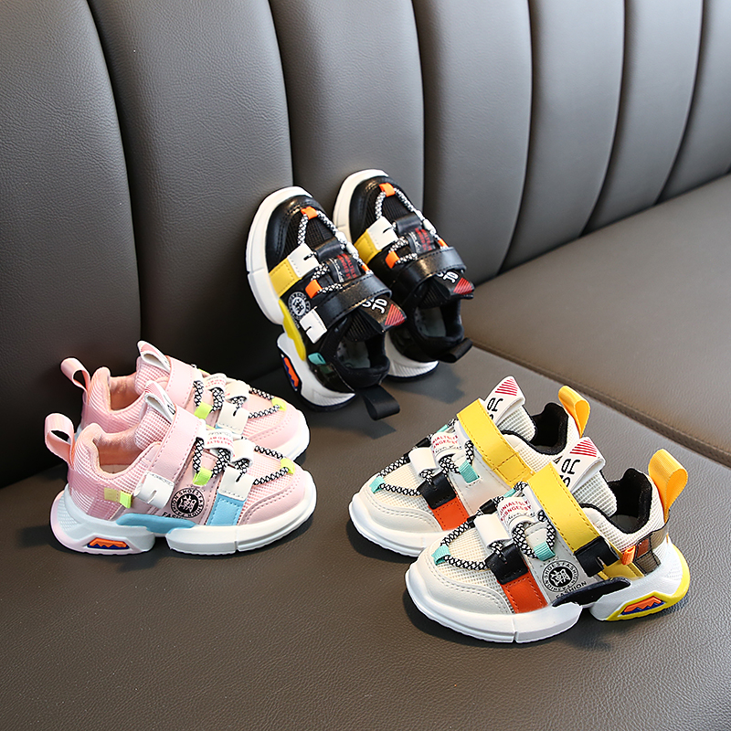 Children Shoes Bottom Sneakers Breathable Kids New-Fashion Patchwork Non-Slip Casual