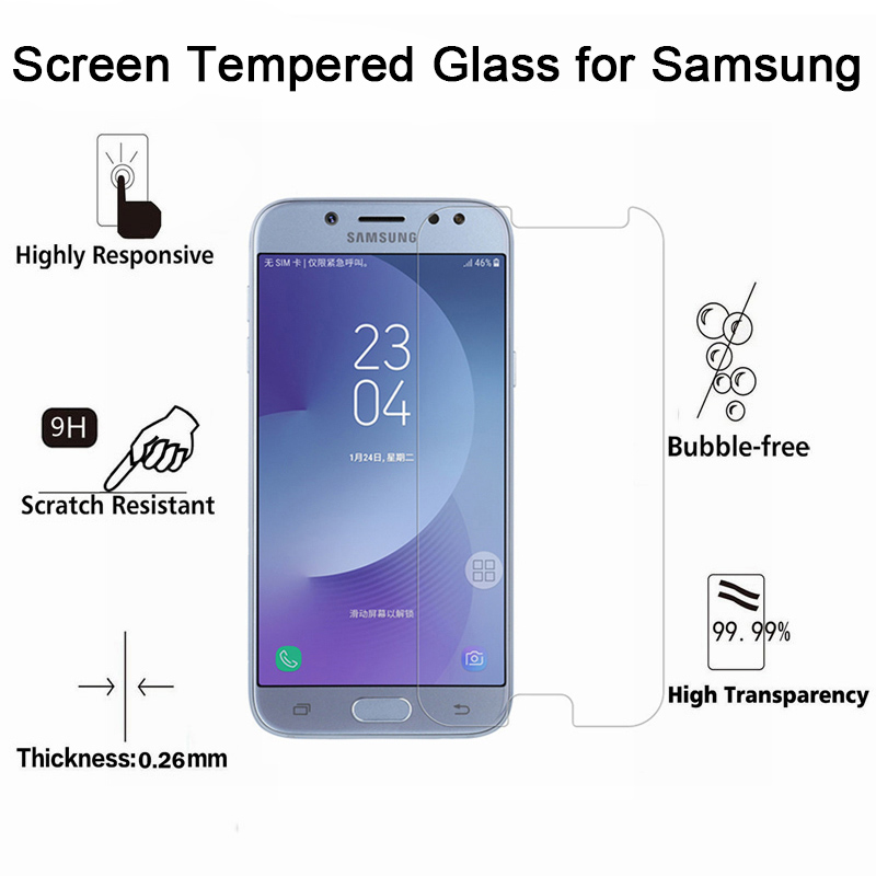 Hard Glass Toughed Screen Protector Phone Front Film 9H HD Tempered Glass For Samsung A2 Core A3 A5 A6 Plus A7 A8 2015 2016