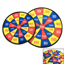 1pc Party Darts Games Plate Set Sport Double Target Dart Flocking Dartboard Boards Toys for Children Adult Cave Games Soft Paper(China)