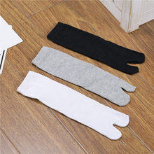 Japanese Kimono Clog Socks Flip Flop Sandal Split Toe Tabi Ninja Geta Socks Woman Man Cotton Socks Cosplay Socks 1Pairs(China)