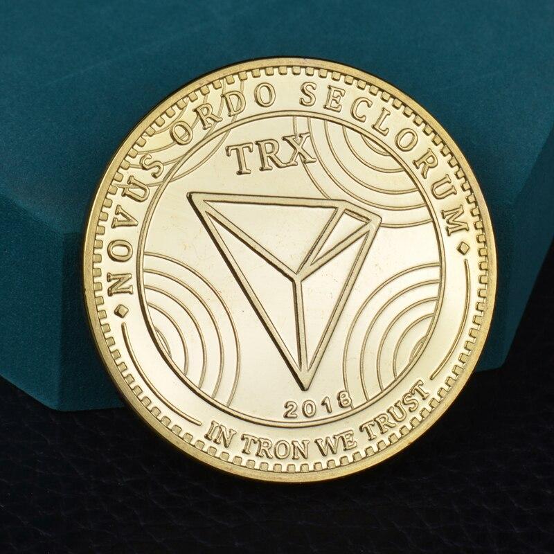 TRX виртуальной металлические памятные коллекционные монеты монета криптовалюта