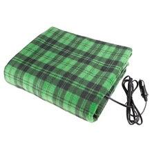 Автомобильное одеяло для путешествий с подогревом-зеленое клетчатое высококачественное автомобильное комфортное одеяло для сиденья автомобиля 12 в отлично подходит для холодной погоды
