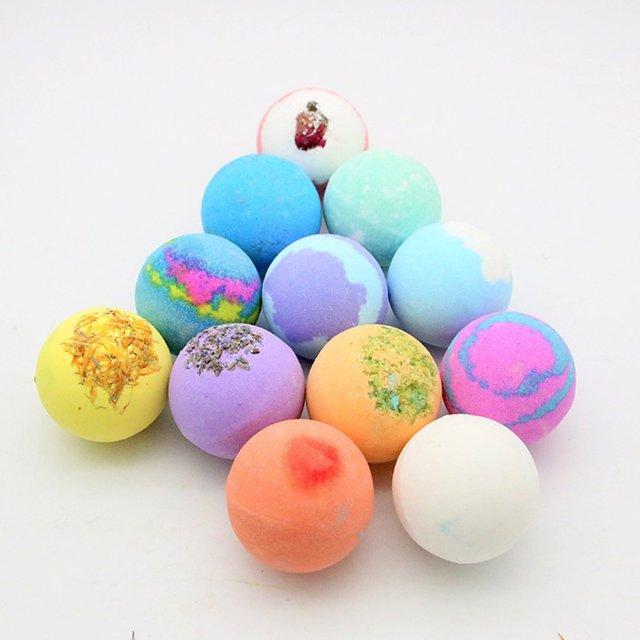 Oil Bath Essential Monochrome Ball Gift Box With Aromatherapy Essential Oil Explosion Ball Milk Bath Salt Ball 3