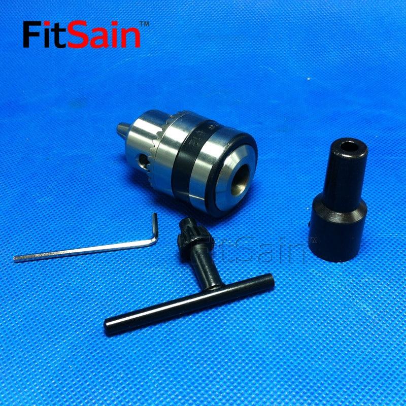 Mini uchwyt wiertarski FitSain-B12 1,5-10 mm do wału silnika 5/6 / - Akcesoria do elektronarzędzi - Zdjęcie 3