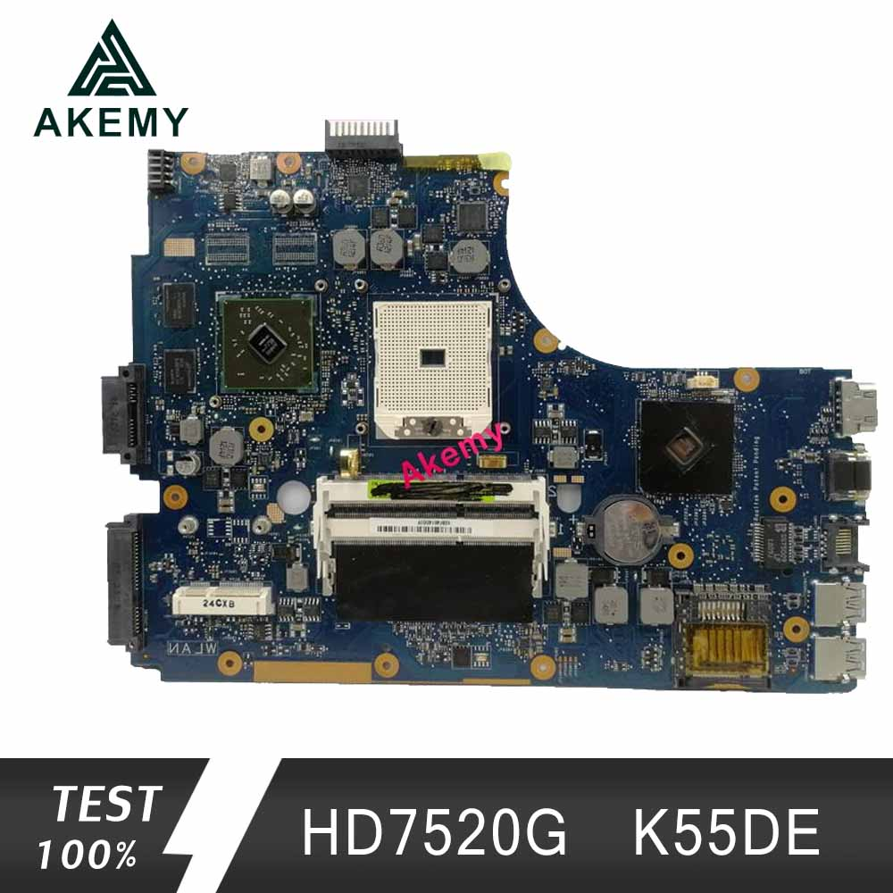 Akemy For Asus K55DR K55DE Motherboard With HD7520G Discrete Video Card
