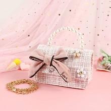 Coin Wallet Purse Handbags Crossbody-Bags Girls Small Korean Kids Cute Gift Pearl Party
