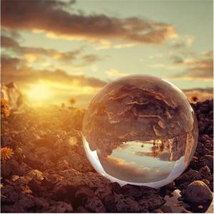 Image 5 - Boule de lentille de cristal de photographie de 60mm 80mm boule de verre magique claire de Quartz asiatique avec le sac portatif pour le tir de Photo