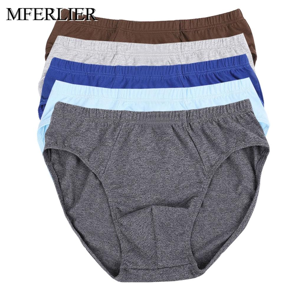 Men Briefs 6XL 7XL 8XL large size waist 140cm cotton men Underwear 3 colors