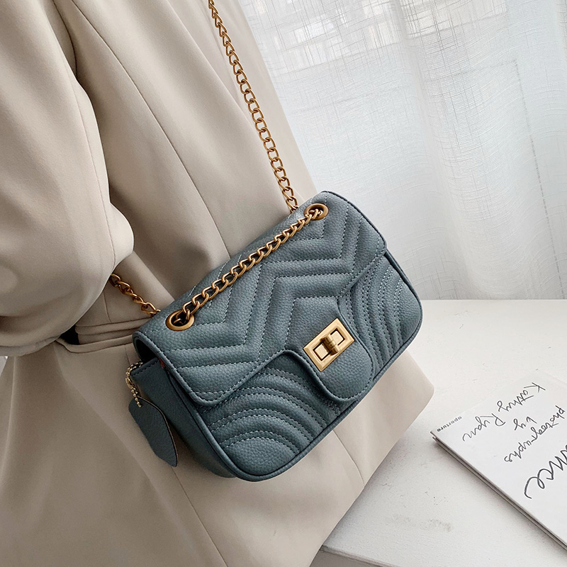 Solid Color Leather Crossbody Bags For Women 2019 Luxury Chain Shoulder Messenger Bag Lady Lock Handbags Cell Phone Purses