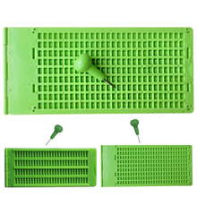 Practical Accessory With Stylus Braille Writing Slate Practice Plastic School Green Tool Vision Care Portable 4 Lines 28 Cells