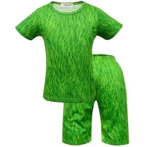 Image 3 - Moana Maui Costume Boys Pyjama Sets Nightwear Sleepwear Long Sleeve 3 10 Years Teen Kid Child t Skirt Clothes Bathrobe Cartoon