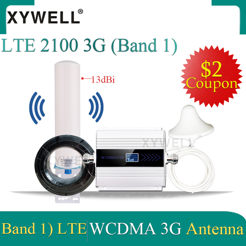 2100 3g Cellular Amplifier LTE Band1) UMTS 2100 MHz WCDMA 3G Mobile Signal Booster 2100 GSM Signal Repeater 3G Signal Amplifier