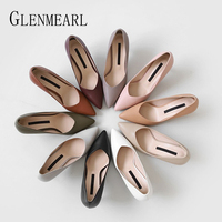 Women High Heels Female Shoes Classics Basic Women Pumps Pointed Toe Slip On Casual Shoes Spring Autumn New Arrival DE