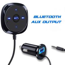 3.5mm AUX Car Bluetooth 4.2 Stereo Receiver Wireless Audio Speaker Music Streaming Audio Adapter Mic(China)