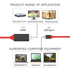Image 5 - Type C HDMI Cable USB C to HDMI Thunderbolt 3 for Samsung Galaxy S9 S8 plus note8 Huawei Mate 10Pro P20 USB C 4K HDMI Adapter