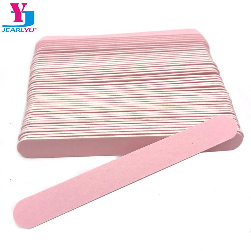 500Pcs/lot Pink Nail File Wooden 240/240 Disposable Buffing Professional Limes All UV Gel Nail File Sandpaper Straight Styling