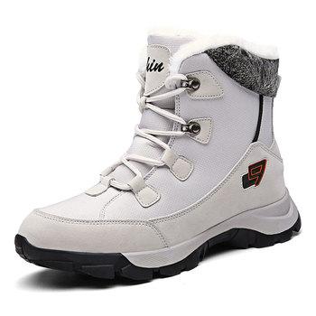 Buty kobieta buty damskie buty męskie trampki damskie buty damskie buty męskie buty ciepłe buty zimowe buty Ankel buty zimowe damskie tanie i dobre opinie HOMASS Buty motocyklowe Krowa Zamszu ANKLE Lace-up Pasuje prawda na wymiar weź swój normalny rozmiar Okrągły nosek