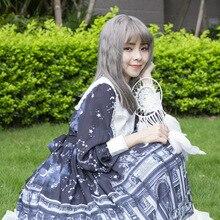 OP Lolita готическое платье горничной милое платье с бантом и высокой талией платье с длинными рукавами костюм Лолиты Cos платье