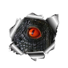 13cm x personality 3d reptile eyes car sticker accessories decal