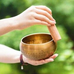 Cuenco nepalés, cuenco para cantar, cuenco de Metal Manual, cuenco de Buda, cuenco religioso, cuenco de meditación Tibetano para cantar el sonido de Buda