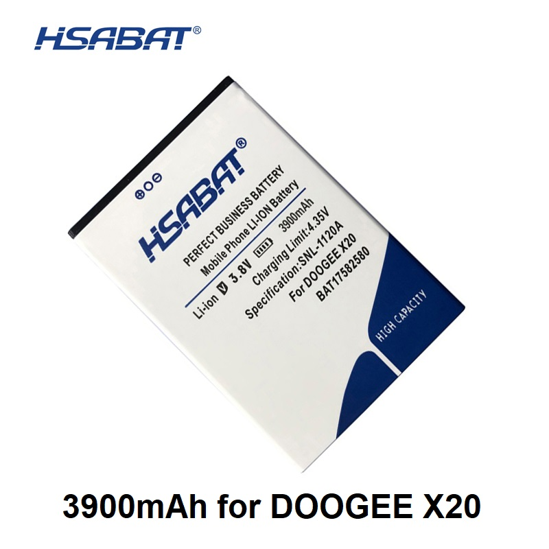 HSABAT BAT17582580 3900mAh Battery For DOOGEE X20 X20L Within Tracking Number
