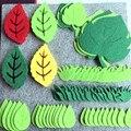 Детский нетканый войлок с зелеными листьями, сделай сам, аксессуар для рукоделия, Декор стен дома, детского сада, вечерние наклейки