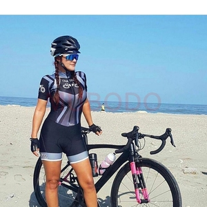 KAFITT One-piece suit triathlon sport suit bike sport sexy tight thin short sleeve running swimsuit add fat increase custom(China)