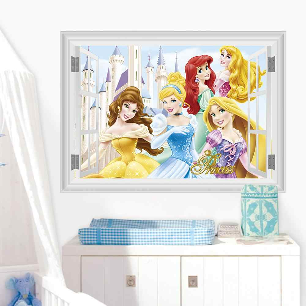 Magic Princess Wall Stickers For Kids Rooms Window Castle Fairy Tale World Stickers Muraux Bedroom Home Decoration Accessories Wall Stickers Aliexpress