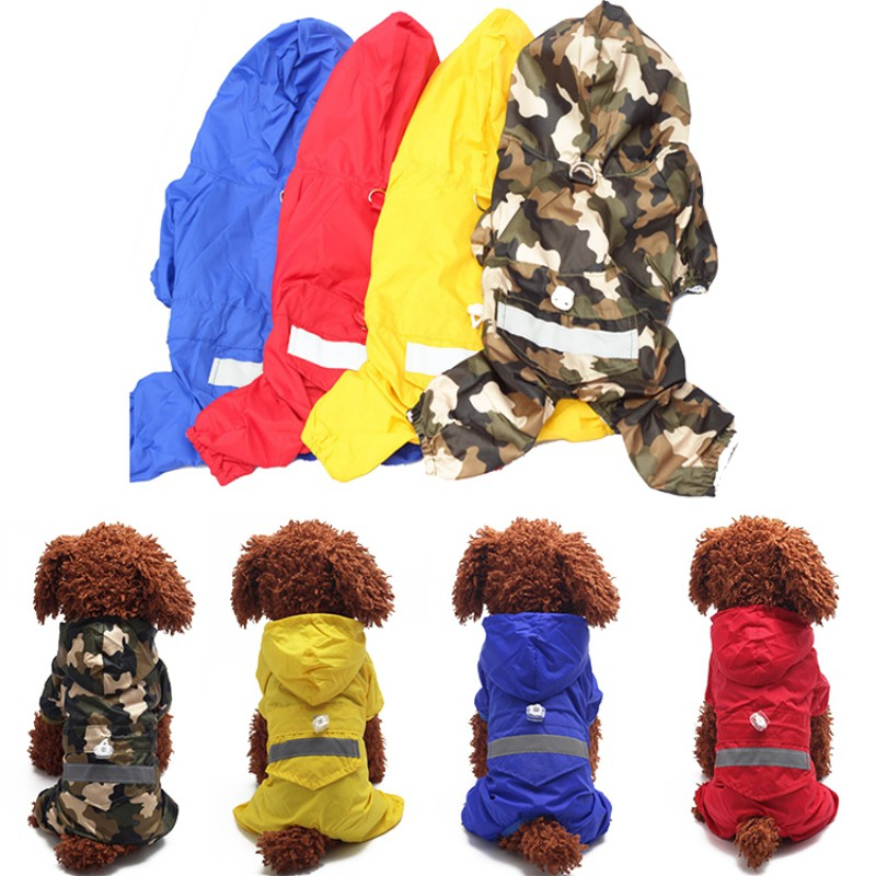 Pet Dog Camouflage Raincoat Puppy Casual Raincoats Waterproof Coat Costumes XS-XXL Pet Supplies For Puppy Dog Clothes