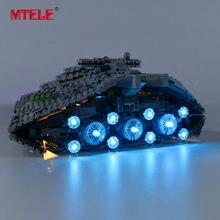 Mtele marca led light up kit para star war primeiro pedido star destroyer brinquedos compatíveis com 75190