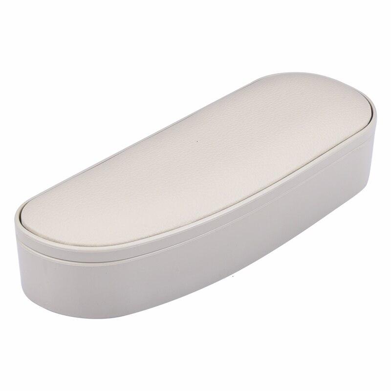 Автомобильный локоть поддержка левая рука подлокотник Противоскользящий коврик коробка для хранения Анти-усталость левая рука подлокотник подставка Универсальный - Название цвета: Белый