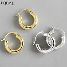 925 srebro okrągłe koło kobiety Hoop kolczyki dla kobiet złoto/srebro kolczyki w kolorze biżuteria prezenty