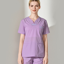 Hand-washing Clothes Skin Management Of Summer Short-sleeved Womens Beauty Salon Workwear Separate Suit Brushing Handwear Surgi